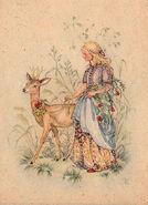 Bruederchen Anita Rahlwes Postkarte um 1950