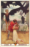 Sieben Raben Erich Schuetz postkarte
