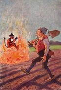 Bauer und Teufel Richard Flockenhaus um 1910