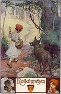 Rotkaeppchen Erich Schuetz Postkarte