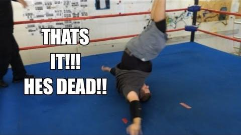 BOTCH FEST! Grim Vs Tony U-Haul Pro Wrestling in ring Match practice workout!