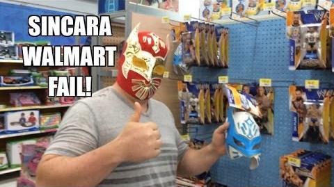 SINCARA the SCALPER! WWE Wrestling Action Figures at Walmart! Mattel Exclusive John Cena