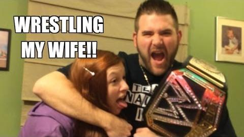 Grim's Toy Show ep 721- Wrestling match Heel Wife vs Grim! WWE Figure Toy Room on the line!