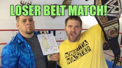 Grim's Toy Show Ep 936- LOSER belt Match! WWE Mattel Wrestling Action Figures Collection Pics!