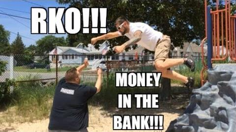 Grim's Toy Show ep 890- Money in the Bank match RKO!! WWE mattel wrestling figures collections