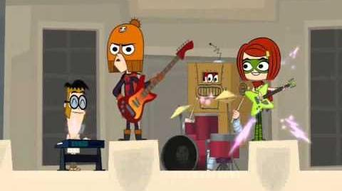 """Grojband - Song 18 """"We're Not Heroes"""" From The Episode 10 (HQ)"""