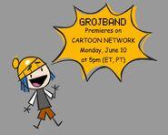 An advertisement for Grojband