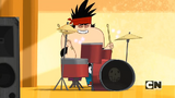 Kon is drumming like a man