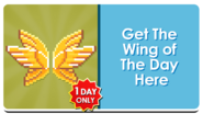 Feature Button - Bling Wings
