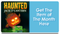 Feature Button - Haunted Jack O' Lantern