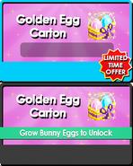 Golden egg carton