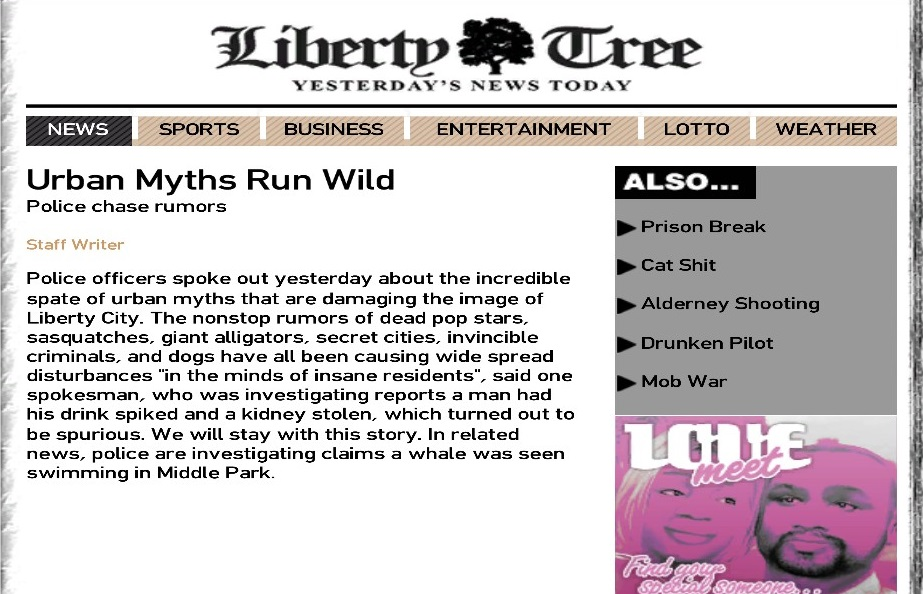 Liberty Tree Myth Article (GTA IV)