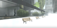 Downtown Screams benches