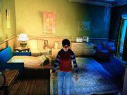 Clementine a Broker Menedékház belsejében