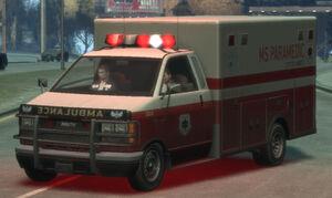 Ambulance gta4 front