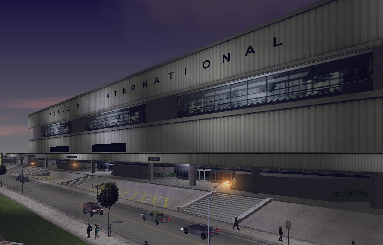 Международный аэропорт имени Фрэнсиса вселенной 3D