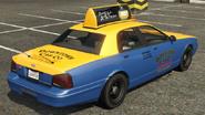 Taxi vue arrière GTAV