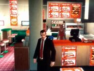 Niko a Memory Lanesben lévő Burger Shotnál