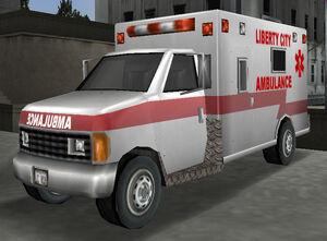 Ambulance gta3 front