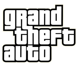 Логотип GTA, набранный шрифтом Pricedown