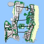 Wyjątkowe skoki w GTA Vice City (mapa)