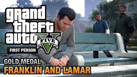 GTA 5 - Intro & Mission 1 - Franklin and Lamar First Person Gold Medal Guide - PS4