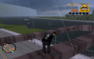 GTA III Claude a híd tetején