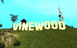 Panneau Vinewood GTA San Andreas