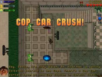 Cop Car Crush!