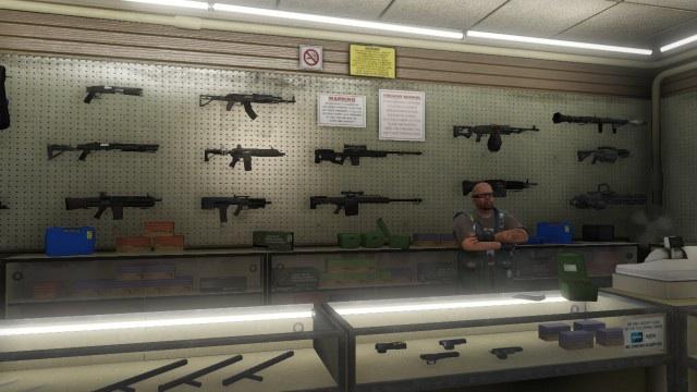 Оружие в GTA V