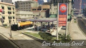 A Seul de San Andreas