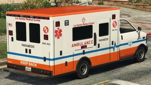 Ambulance L.S.M.C. GTA V (vue arrière)