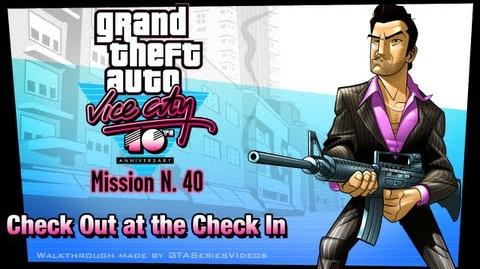 GTA Vice City - iPad Walkthrough - Mission 40 - Check Out at the Check In