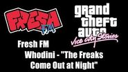 "GTA Vice City Stories - Fresh FM Whodini - ""The Freaks Come Out at Night"""