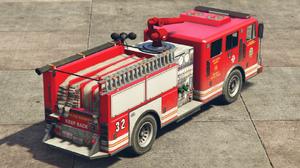 Camion de pompiers GTA V (vue arrière)