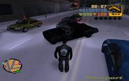 GTA III riporter autójának a roncsai