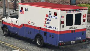 Ambulance M.R.S.A. GTA V (vue arrière)