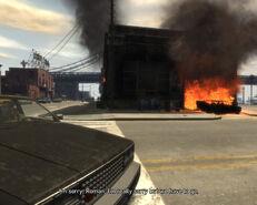 Roman's Sorrow (GTA4) (burning depot)