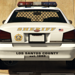 SheriffCruiser-GTAV-RearView