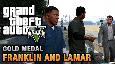 GTA 5 - Intro & Mission -1 - Franklin and Lamar -100% Gold Medal Walkthrough-