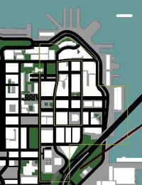 Localização de Downtown San Fierro
