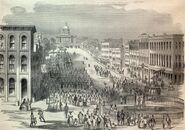 Jefferson Davis' Inauguration Donovan, Muskogee 1861