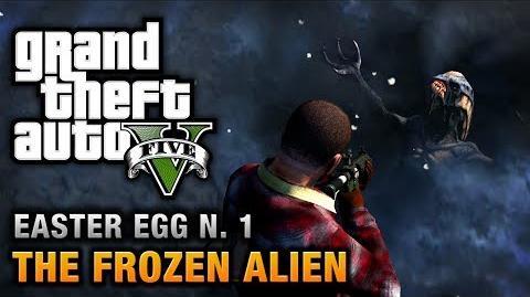 GTA 5 - Easter Egg 1 - Frozen Alien and Secret Map