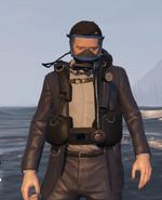 Scuba Suit GTAVpc Michael worn over a suit