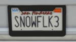 Custom Plate GTAO SN0WFLK3