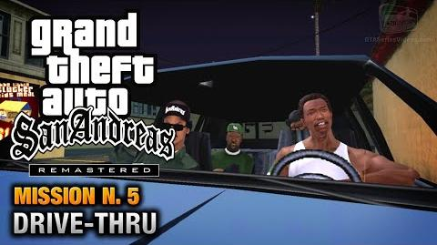 GTA San Andreas Remastered - Mission 5 - Drive-thru (Xbox 360 PS3)