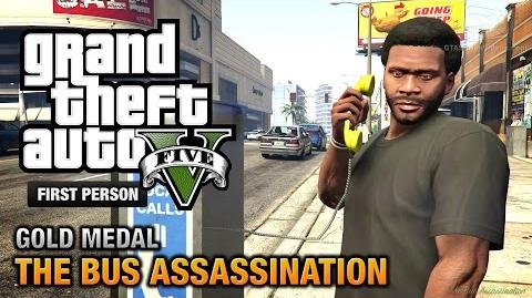 GTA 5 - Mission 43 - The Bus Assassination First Person Gold Medal Guide - PS4