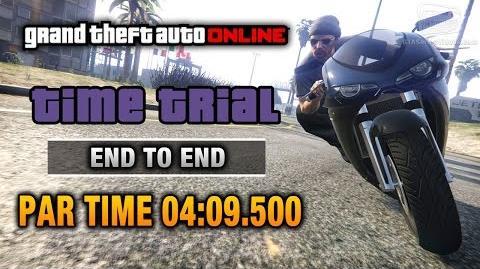 GTA Online - Time Trial 5 - End to End (Under Par Time)