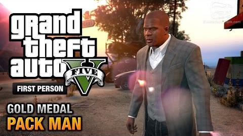 GTA 5 - Mission 58 - Pack Man First Person Gold Medal Guide - PS4