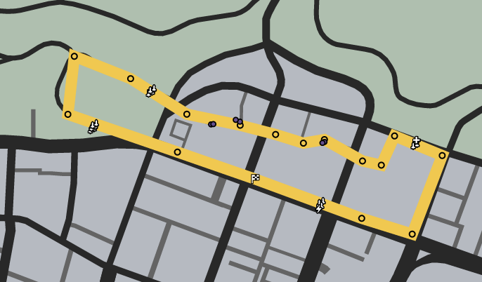 Up The Back Alley GTAO Race Map.png